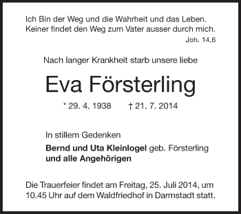 Eva-Foersterling